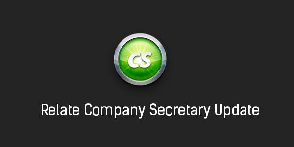 Relate Company Secretary Update